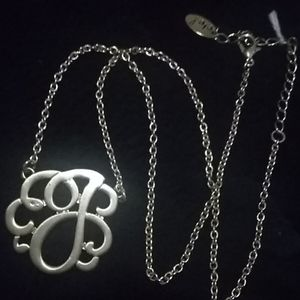 "Vintage inspired ""J"" necklace"